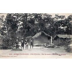 Afrique Occidentale - Côte d'Ivoire - Sur la route d'Aboisso à Ahinta