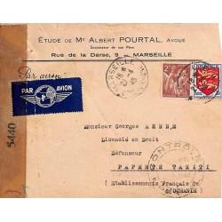 1945 Lettre avion de France...
