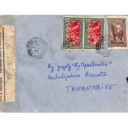 1940 TANANARIVE RP MADAGASCAR CONTROLE POSTAL * Commission B