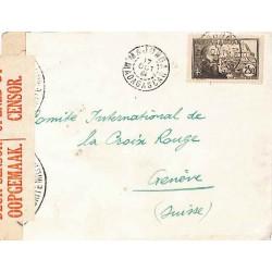1941 MAJUNGA MADAGASCAR CONTRÔLE POSTAL * Commission D * et D 1