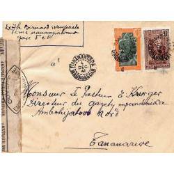1941 TANANARIVE RP MADAGASCAR CONTROLE POSTAL * Commission B *