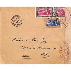 1942 AMBILOBE MADAGASCAR  CONTROLE POSTAL MILITAIRE * Commission A *