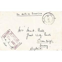 1942 E.A. A.P.O. 53 PASSED BY MILITARY CENSOR No 346
