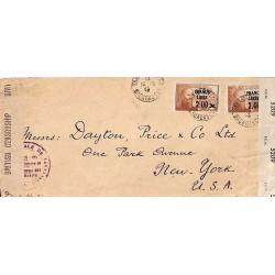 1943 TANANARIVE-RP MADAGASCAR PASSED BY CENSOR 252-I
