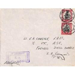 1943 E.A. A.P.O. 53 PASSED BY MILITARY CENSOR E.A. No 1/222