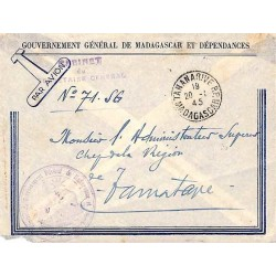 1945 TANANARIVE R.P. MADAGASCAR Gouverneur