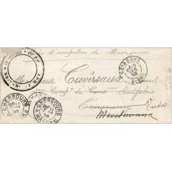 1898 CORPS EXPEDITIONNAIRE * MADAGASCAR  * Cachet noir évidé