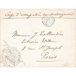 1902 CABINET DU GOUVERNEUR GENERAL TAMATAVE