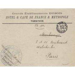 1917 AMBULANCE MILITAIRE DE TAMATAVE LE MEDECIN-CHEF