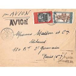 1935 lettre avion pour la...