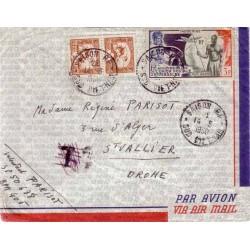 1950 Lettre avion FM pour...