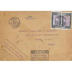 BATIE COTE D'IVOIRE 1934  COTE D' IVOIRE OLEAGINEUX CACAO - CAFE BOIS PRECIEUX