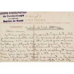 1923 CORPS D'OCCUPATION de CONSTANTINOPLE - Service de Santé