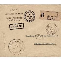 1924 POSTE AUX ARMEES - LEVANT - LE DIRECTEUR