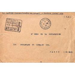 1933 POSTE AUX ARMEES S.P. 615 pseudo Daguin AIR ORIENT