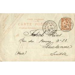 1903 Entier carte postale...