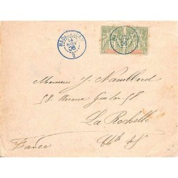 2 MADAGASCAR  bleu 1906