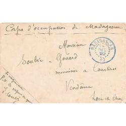 1903 MADAGASCAR 17 timbre à date bleu