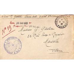 1917 SECTION T.M. 216 * Le Lieutenant Commt *