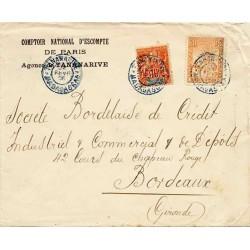 Lettre triple port 1908