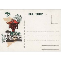 Entier carte postale Hanoï-Saïgon