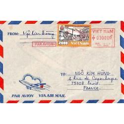 Lettre 1991 avion pour la...