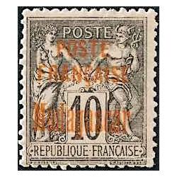 1895 - 10 c  noir sur lilas...