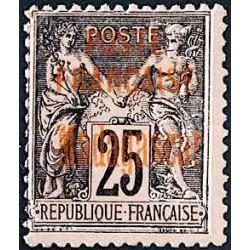 1895 - 25 c  noir sur rose...
