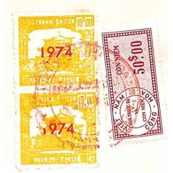 Saigon 1974  2 timbres...