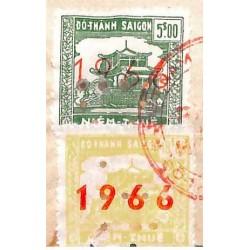 Saigon 1966 timbre fiscal...