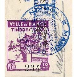 Hanoi quittance avec timbre...