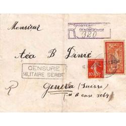1918 POSTES SERBES sur...