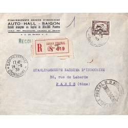1939 Lettre SAIGON Cachet...