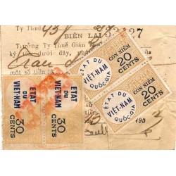 Timbres fiscaux 1953 Etat...