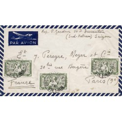 1950 lettre avion pour la...