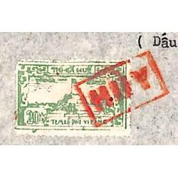 Hué 1967  timbre fiscal...