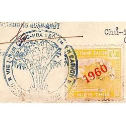 Saigon 1960 timbre fiscal...