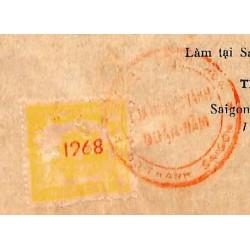 Saigon 1968 timbre fiscal...