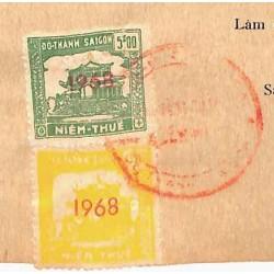 Saigon 1968 timbres fiscaux...