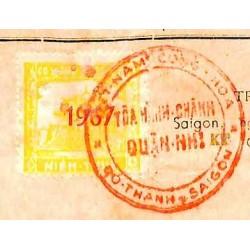 Saigon 1967 timbre fiscal...