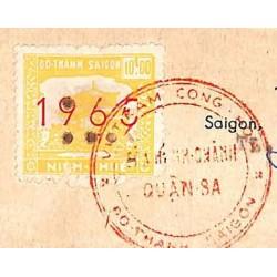 Saigon 1965 timbre fiscal...