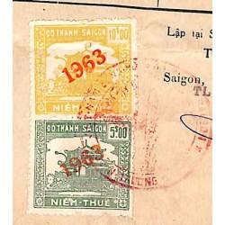 Saigon 1961 timbres fiscaux...