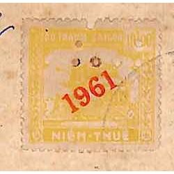 Saigon 1963 timbre fiscal...