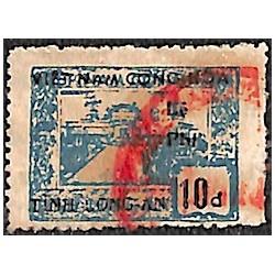 Long An timbre fiscal local 10 d bleu