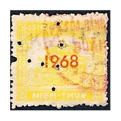 Saigon Cholon 1968 timbre fiscal régional 10 $ jaune