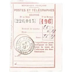 1913 Récépissé de mandat...