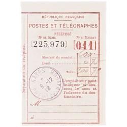 1912 Récépissé de mandat