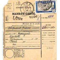 Mandat-carte de LOME TOGO