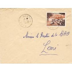 NUATJA TOGO 1957 lettre...