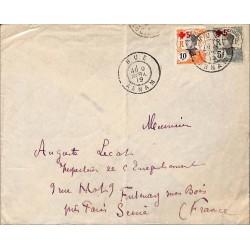 1919 Lettre affranchie...